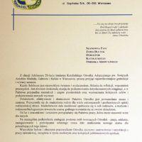 gratulacje od OA TPD na XX-lecie